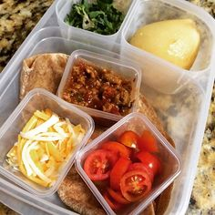 Son's lunch today... He's gonna have fun making his own turkey taco! Packed in #easylunchboxes