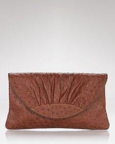 ShopStyle: Lauren Merkin Ava Ostrich Clutch