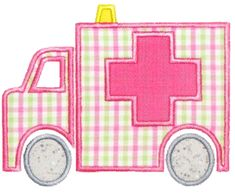 Ambulance Applique Design - obviously blue would be better! Machine Embroidery Applique, Applique Patterns, Embroidery Files, Applique Designs, Embroidery Designs, Applique Momma, Pretty Drawings, Medical Design, Freebies