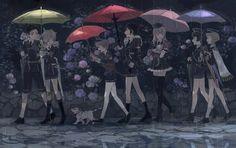「雨の日の粟田口短刀」 藤四郎兄弟