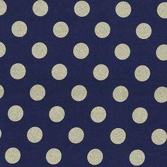 Michael Miller - Glitz Quarter Dot Pearlized - Navy Bronze Metallic