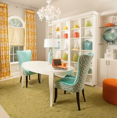 Dream Room 2014 - contemporary - Home Office - Other Metro - Decorating Den Interiors- Corporate Headquarters