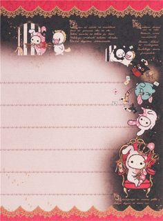 striped Sentimental Circus rabbit Shappo door mini Note Pad San-X 5