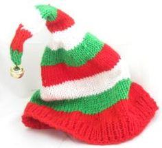 Ravelry: Christmas Elf Hat pattern by Rita at Craftbits Knitting Paterns, Christmas Knitting Patterns, Knitting Blogs, Baby Hats Knitting, Knitting For Kids, Knitting Projects, Crochet Projects, Knitted Hats, Charity Knitting
