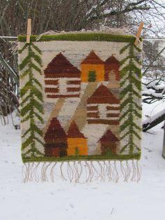 Vintage Tapestry Kilim Rug 16 x 16.5 Cepelia by OLaLaVintage