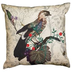 47.5cm sq, in linen, £85. Also in other bird designs/colours