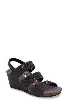 5d0be505b55 Aetrex  Lexi  Wedge Sandal (Women) Slingback Sandal