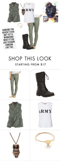 """""""ARMY."""" by carmenw-42 ❤ liked on Polyvore featuring Old Navy, Minka, H&M, NLY Trend and Jennifer Meyer Jewelry"""