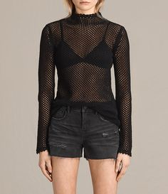Womens Avril Top (Black) - product_image_alt_text_1