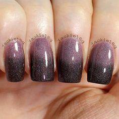 Ombré Nails, mauve-brown by jackie18g via INK361 http://ink361.com/app/#!/photo/ig-447478376552808620_199616615