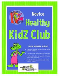 The Healthy KidZ Club program is an entire health curriculum in one package.   Each of the 9 units focuses on a different health content area - all based on the national health education standards. Students complete the Healthy Kidz Club Challenges throughout the year to earn challenge stickers to place on the Healthy Kidz Club Badges.