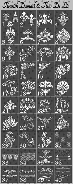 make custom stencils anything you want. Order your stencils by e-mail at or text or call Lisa at Stencil Patterns, Stencil Designs, Diy And Crafts, Arts And Crafts, Plaster Art, Custom Stencils, Motif Floral, Painted Furniture, Decoupage