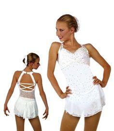 For some reason I LOVE LOVE LOVE LOVE LOOOOOVE white skating dresses.. Marrying my sport XD