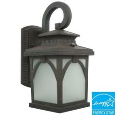 Rustic Outdoor Wall Lantern in Victorian Bronze Finish with Bulbs-EL-110-123 at The Home Depot