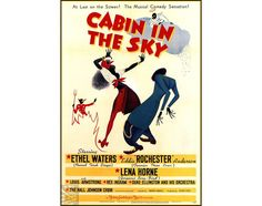 Cabin In The Sky 1943 Classic Musical Film Vintage Poster Print Lena Horne Ethyl Waters  Eddie Rochester Low Eu Post Free US Post by VintagePosterPrints on Etsy