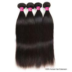 Peruvian Straight Hair 4Bundles Lot Vrigin Peruvian Human Hair Extension Wholesale Straight Human Hair Weft Naturl Color