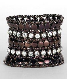 A Chunky Bead & Rhinestone Bracelet makes a great accessory