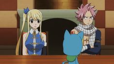 Am I the only one who noticed that they're wearing matching outfits Fairy Tail Natsu And Lucy, Fairy Tail Nalu, Fairy Tail Ships, Fairy Tail Movie, Fairy Tail Couples, Fairy Tail Photos, Jellal And Erza, Fariy Tail, Fairy Tail Guild