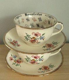 Vintage Meakin Fortune Telling Teacups