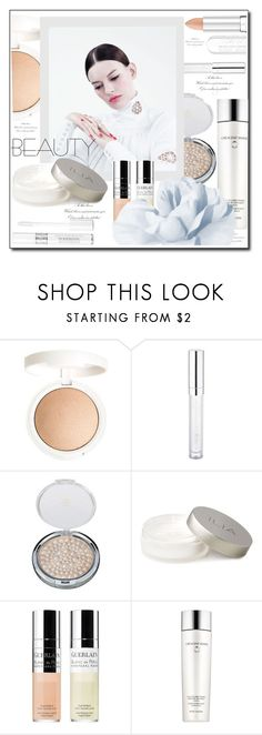 """""""Pure Beauty"""" by littlefeather1 ❤ liked on Polyvore featuring beauty, Topshop, Essence, Physicians Formula, Guerlain, Estée Lauder, Christian Dior, topsets, Beauty and polyvoreeditorial"""