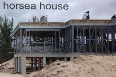 Eclecticism Steel Construction villa hosue Steel Frame House, Steel House, Home Structure, Steel Structure, Camotes Island, Cafe Design, House Design, Community Housing, Container House Plans