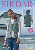 Sirdar 8068 Knitted Waistcoat/Vest for adults in weight yarn Hand Knitting, Knitting Patterns, Crochet Patterns, Dk Weight Yarn, Needles Sizes, Knit Crochet, Sweaters, Cardigans, Yarns