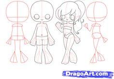 Step 4. How to Draw Chibi Bodies