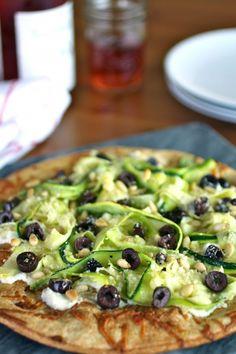 Zucchini Ribbon and Ricotta Pizza - Light and fresh taste! So good!