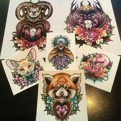 Loooove neo traditional tattoos                                                                                                                                                                                 More