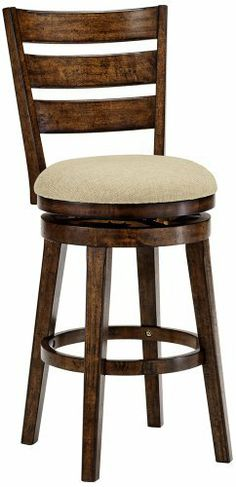 Hillsdale Lenox Chestnut Swivel Bar Stool by Hillsdale. $179.99. Incorporate comfortable seating in your kitchen, game room, or home bar with the Lenox swivel bar stool. The look is traditional with ladder back design and a chestnut finish that has been slightly distressed for a handsome antique look. Woven beige fabric wraps around the seat, which swivels a full 360 degrees for optimum convenience. From Hillsdale.