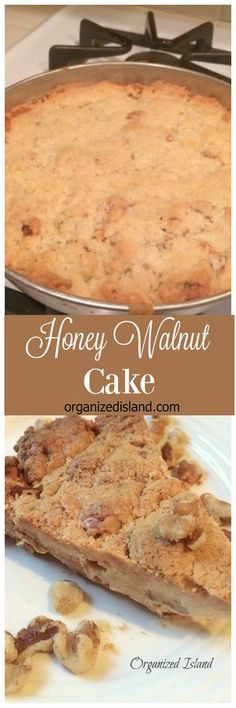 This Honey Walnut cake recipe is made with flavors of the season. Walnuts, honey and the crust-like texture, make it more like a shortbread cookie.