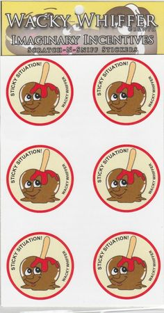 Wacky Whiffer Scratch and Sniff Stickers Caramel Apple Scented ITM SII054E3 | eBay