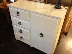 White hand painted chest   Flickr - Photo Sharing!