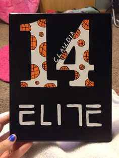 Basketball canvas!