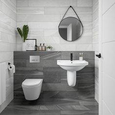 Small Bathroom Tiles, Ensuite Bathrooms, Bathroom Wall, Small Grey Bathrooms, Small Bathroom Ideas Uk, Small Wc Ideas Downstairs Loo, Small Tile Shower, Small Bathroom Layout, Bathroom Grey