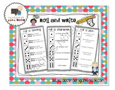 Classroom Freebies Too: Roll and Write - Freebie Writing Prompt Center Writing Lessons, Teaching Writing, Writing Prompts, Writing Games, Story Prompts, Music Lessons, Teaching English, Teaching Activities, Teaching Strategies