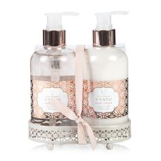 Viento Hand Wash & Lotion Set - love this rose gold bathroom combo!