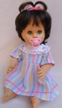Collectable - RARE!! A DARK HAIRED 44CM TALL FIRST LOVE DRINK AND WET DOLL AND IN GREAT CONDITION!! for sale in Pretoria / Tshwane (ID:241305002)