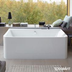 Kamin Duravit P3 Comforts Badewanne, Vorwandversion, mit nahtloser Verkleidung