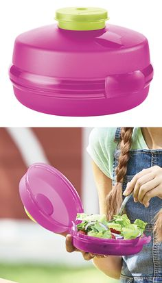 Mini Salad Keeper. Super for salads but great for so much more like bagels and sandwich rolls.
