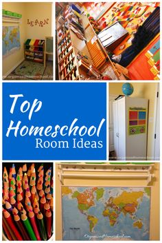 Top Homeschool Room Ideas - Creating An Organized Homeschool  Do you need some new ideas for your homeschool space?  We have compiled a great resource for you!