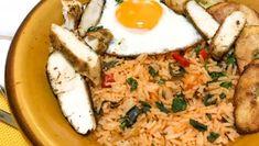 Cubaanse kip met bakbanaan en rijst Risotto, Mashed Potatoes, Chicken Recipes, Grains, Rice, Ethnic Recipes, Foodies, Om, Pasta