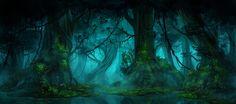 fantasy forest night - Google-Suche