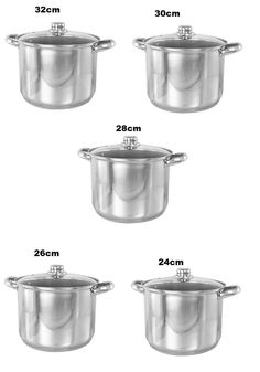 High Quality Induction Stainless Steel Stock Pot Cooking Casserole With  Lid  BN