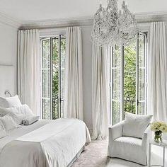 Tranquility #whitebedroom #white #chic #luxury #renovation #interiordesign #interior #interiordesigner #interiorstyle #decor #frenchdoors #chandelier #curtains #homedecor #bedroom #hipster #homedesignideas #bedroomdecor #bedroomdesign #like4like #zen #spa #homedesign - Architecture and Home Decor - Bedroom - Bathroom - Kitchen And Living Room Interior Design Decorating Ideas - #architecture #design #interiordesign #diy #homedesign #architect #architectural #homedecor #realestate…