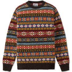 Jamieson's of Shetland Fair Isle sweater.