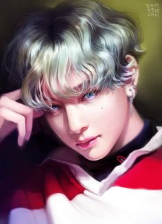 Discover the coolest Taehyung ❤ .] ❌ Credits to the artist ✅ . Taehyung Fanart, V Taehyung, K Pop, Rapper, Les Bts, Bts Drawings, Fan Art, Bts Chibi, Bts Fans