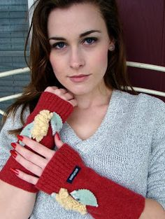 Felted Wool handwarmers featured on People.com...SOLD!