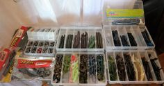 Fishing Tackle Artificial Lure Package New 150+ Lures Nice Value w/Boxes (4) #Unbranded