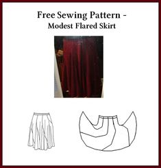 Free Sewing Pattern - Flared Skirt by StarValkyrie on deviantART